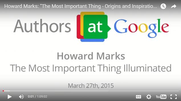 Howard Marks tips on investing