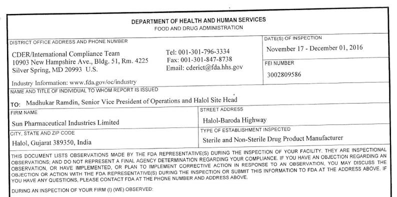 us-fda-sun-pharma-halol-form-483-2