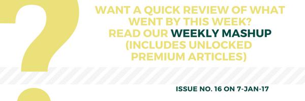 Weekly Mashup – Edition 16