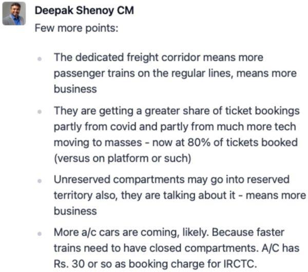 Deepak Shenoy of Capitalmind view on IRCTC