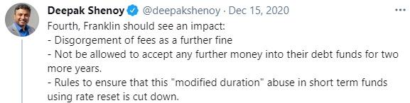 Franklin tweet impact Capitalmind